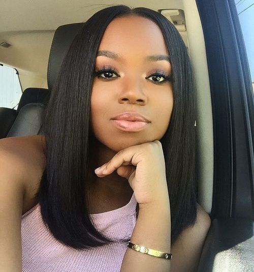 14 straight bob lace front wigs 100 human hair wigs the same as middle part bob hairstyles human hair wigs for black women bob haircuts get the look with inch bundles of our straight virgin remy hair pmusecretfo Gallery