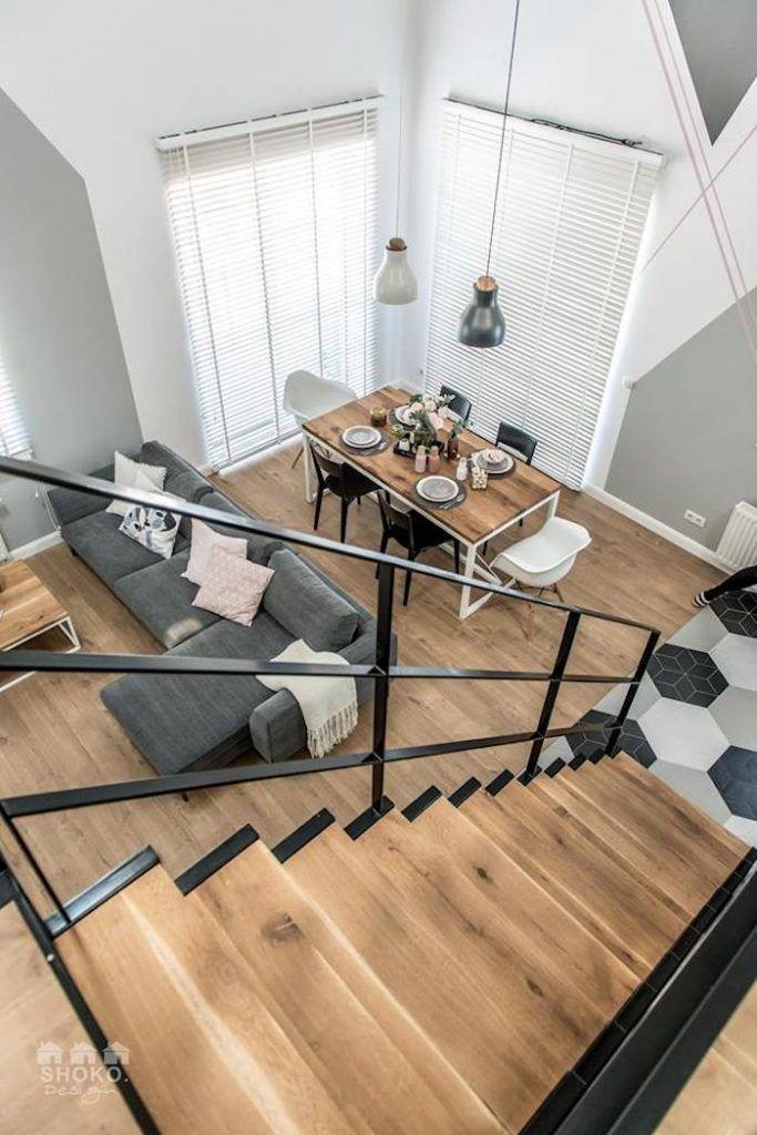 Shoko design a encore créé une pépite un loft scandinave le style industriel se mélange aux gris et blanc aux touches de rose et aux accents graphiques