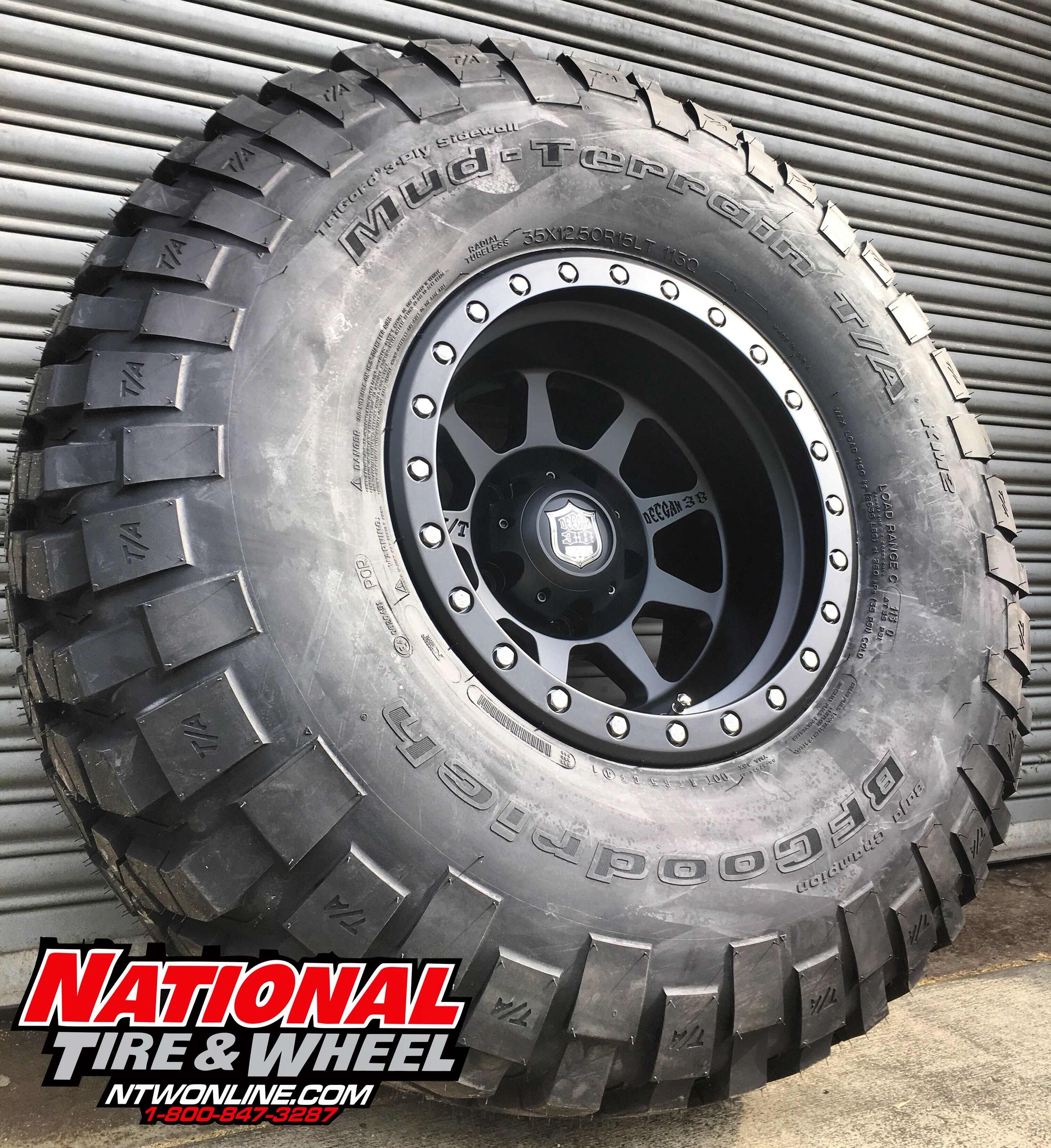 15x10 Mickey Thompson Deegan 38 Pro 4 Mounted Up To A 35x12 50r15