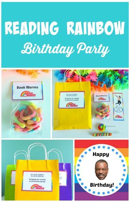 A Reading Rainbow Birthday Party Ideas Rainbow birthday party and