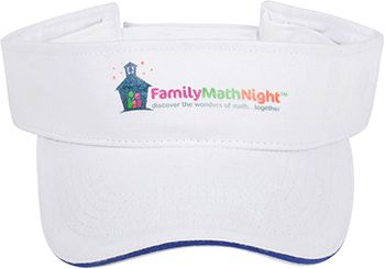 "Family Math Night Visors: We have our Station Facilitators wear these so that the participants know who to turn to if they have questions. Plus, my student Station Facilitators tell me it makes them feel ""official""."