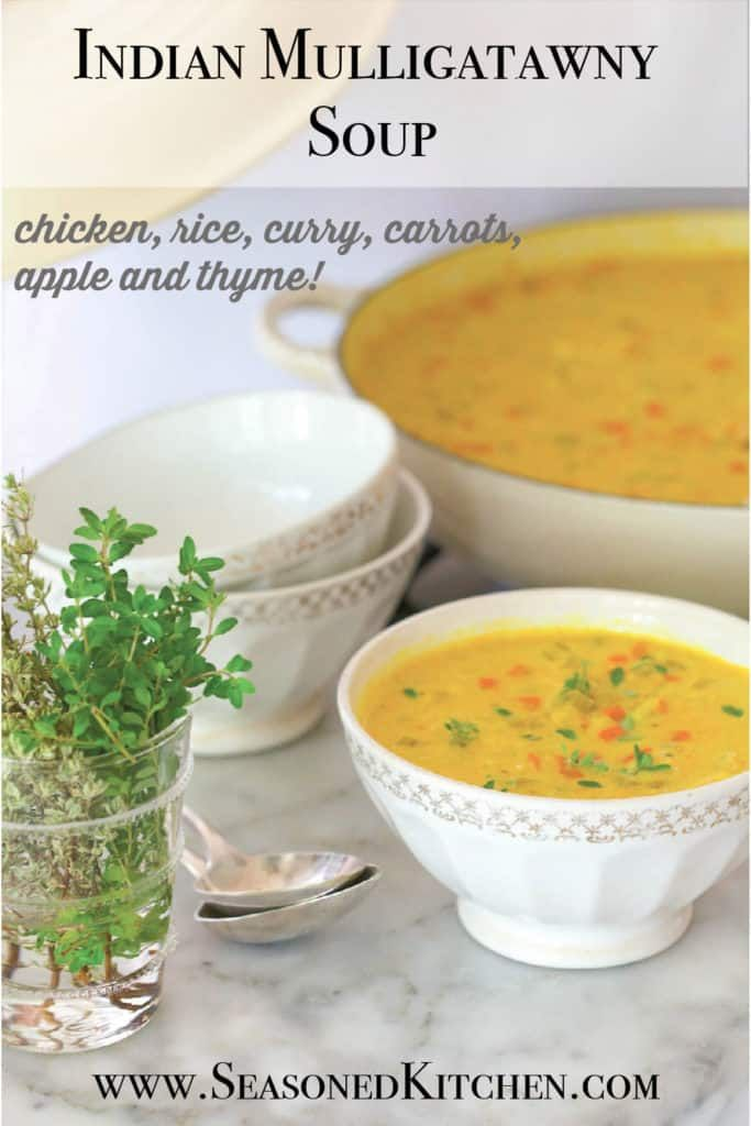 Indian Mulligatawny Soup | A Well-Seasoned Kitchen® #mulligatawnysoup