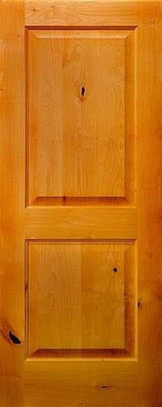 Best Sed210 Knotty Alder 2 Panel Square Top Door 1 3 4 In 400 x 300