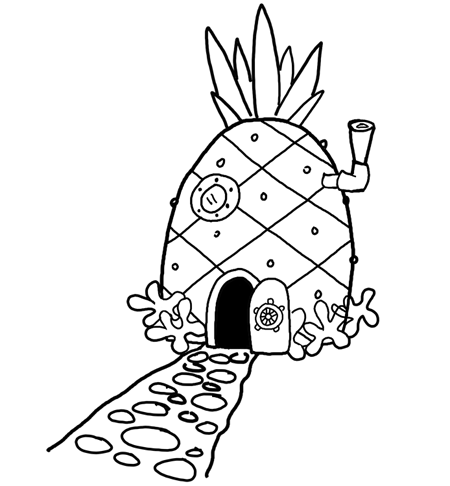 How to Draw Spongebob Squarepants' Pineapple House with ...