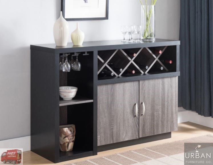 Details About Wine Cabinet Buffet Sideboard Home Bar Liquor