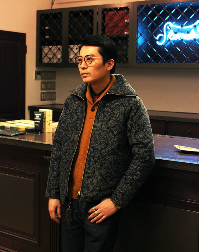 CALEE JACQUARD ALLOVER JACKET