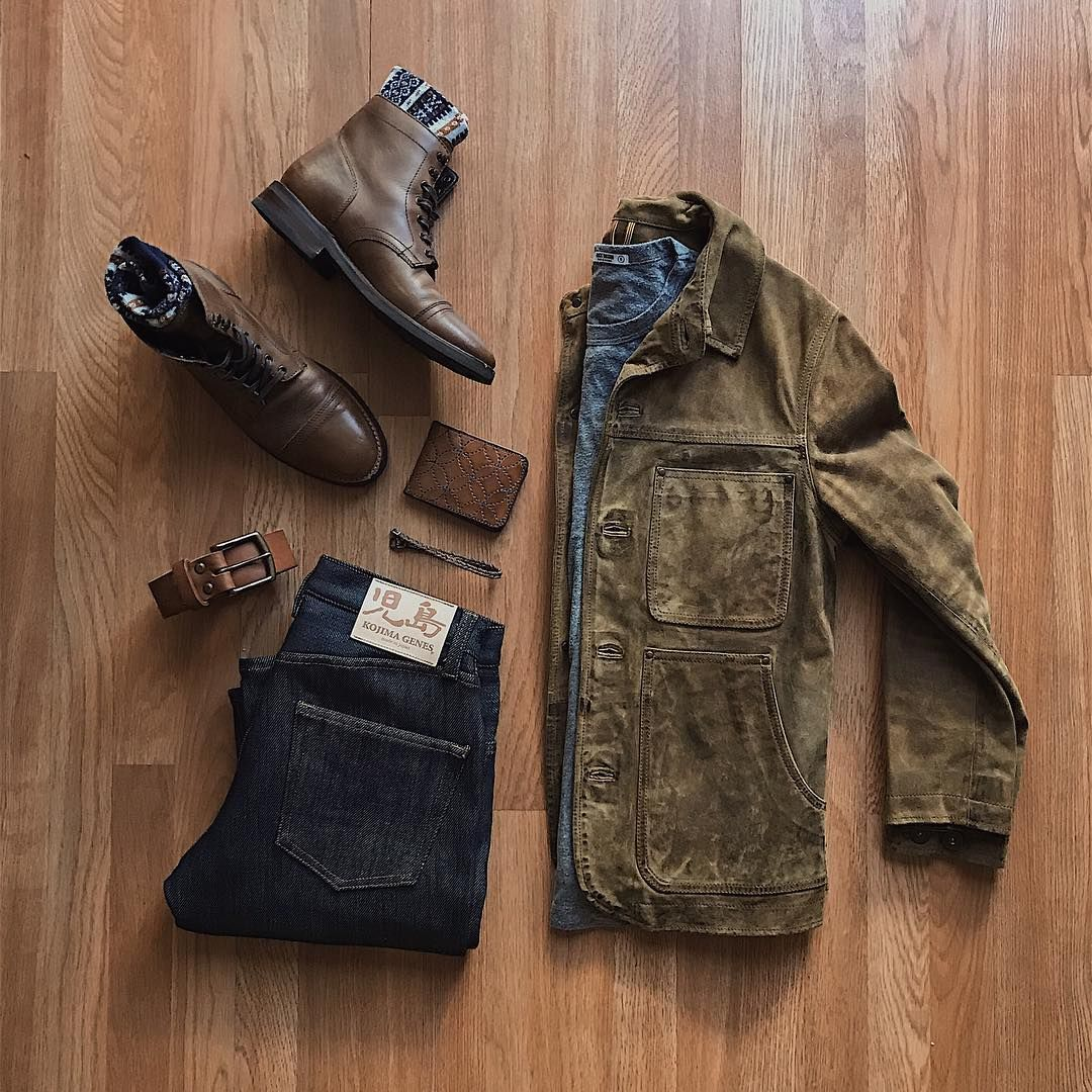 Boots Denim Leather Layers By Cuffington See My Inspiration On My Instagram Account Runnineverlong Mens Fashion Rugged Mens Fashion Mens Fashion Casual
