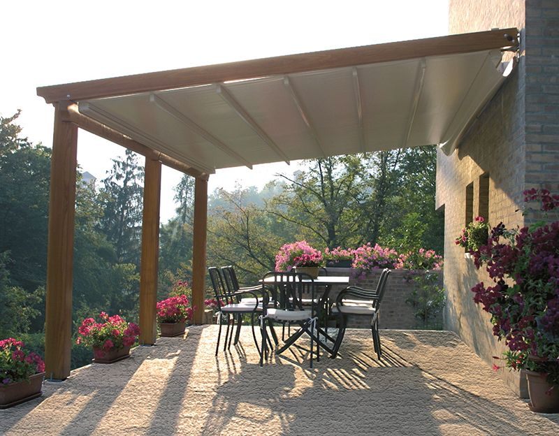 Awnings by sunair retractable awnings deck awnings for Porch canopy plans