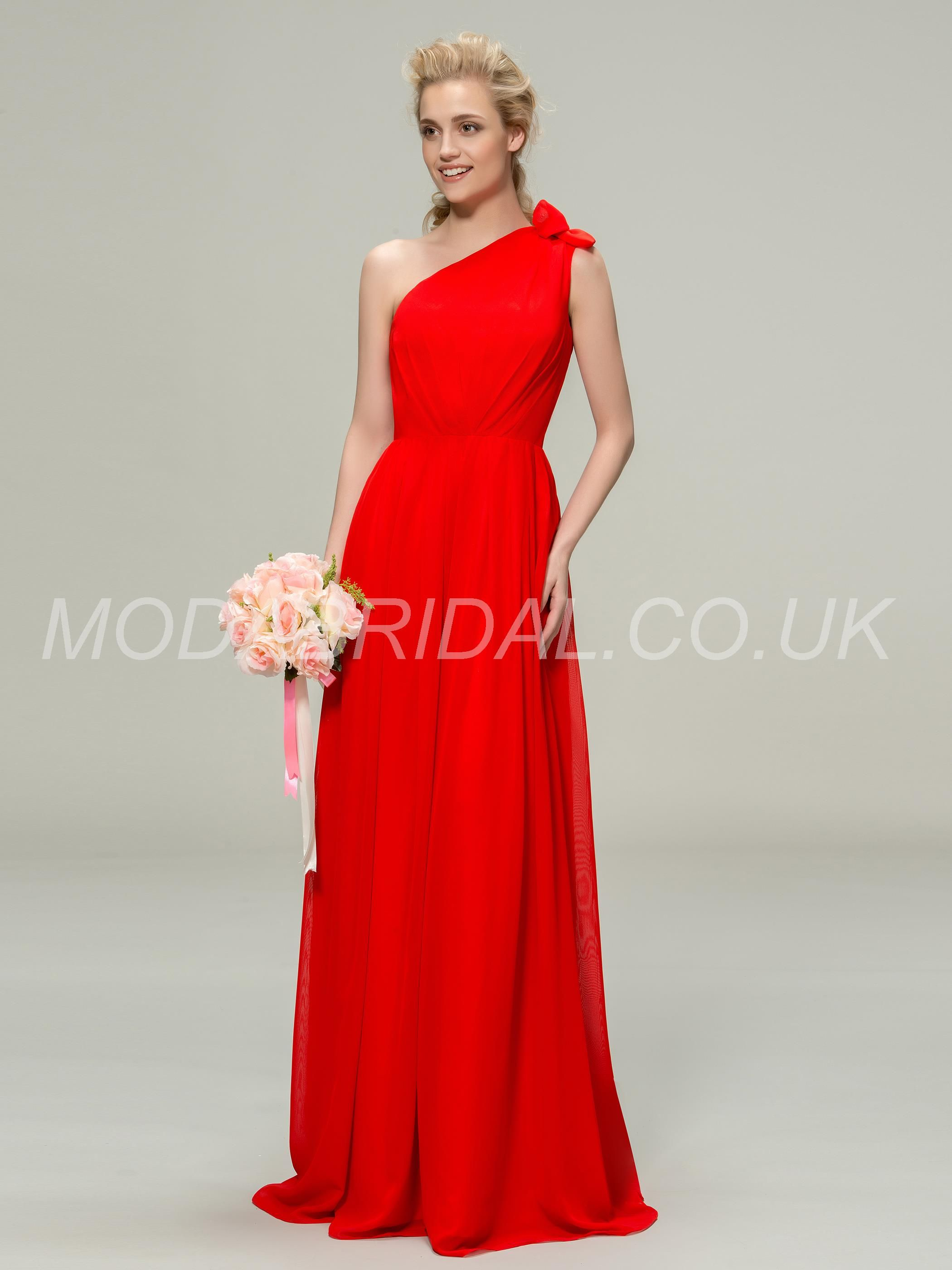 Dress for wedding party in winter  modabridal SUPPLIES UK Style One Shoulder Spring All Sizes