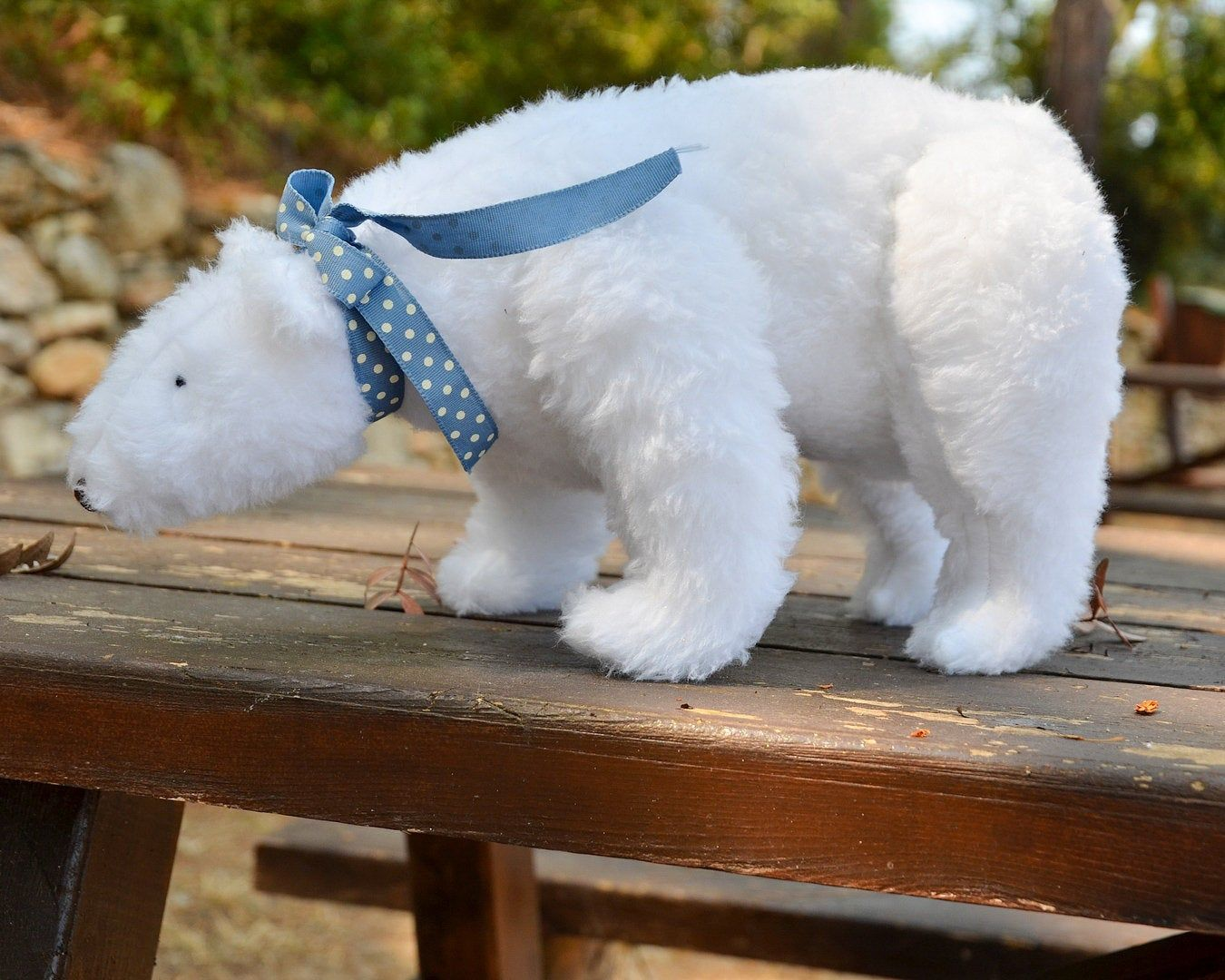 Polar bear plush toy / Christmas gift / Tilda dolls / Teddy bear