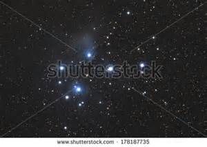 Famous Pleiades nebula in zodiac constellation of the Bull. - stock ...