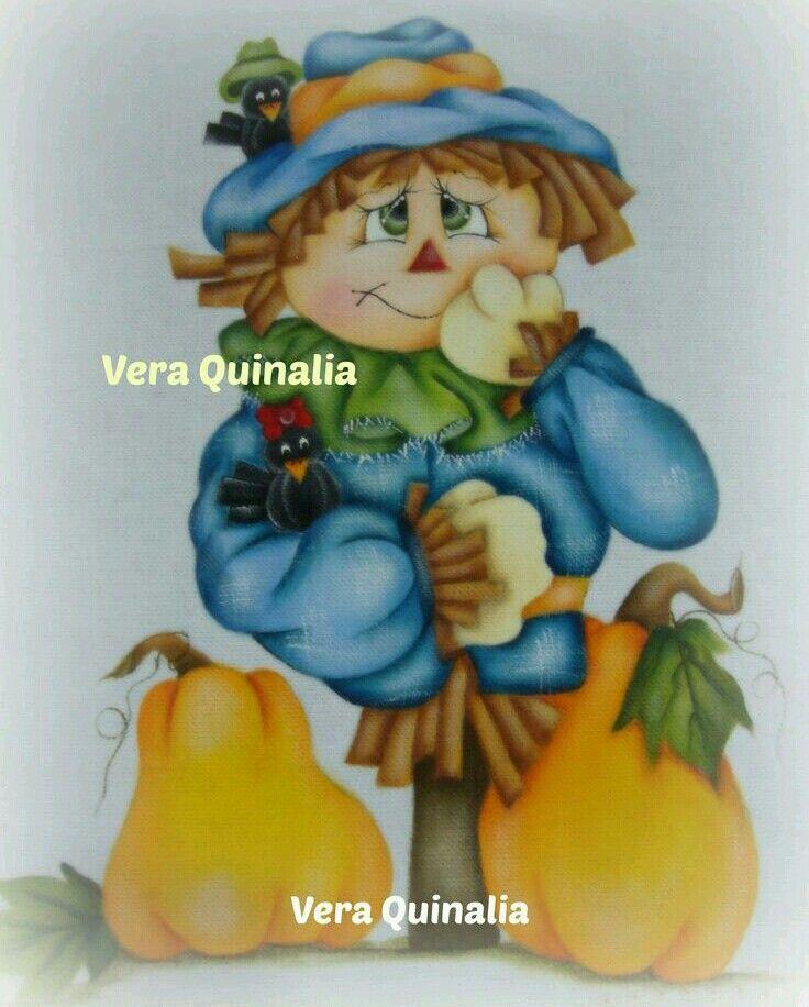 Pin von Paola Montañez auf Halloween Espantapájaros 6 | Pinterest
