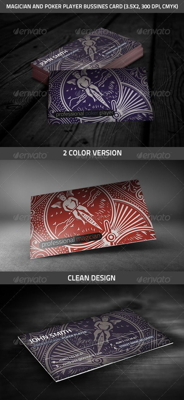 Magician And Poker Player Business Card The Magicians Colorful Business Card Business Cards