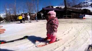 1 Years Old Skiing At Alyeska Resort In Alaska Skiing 1 Year Olds Olds