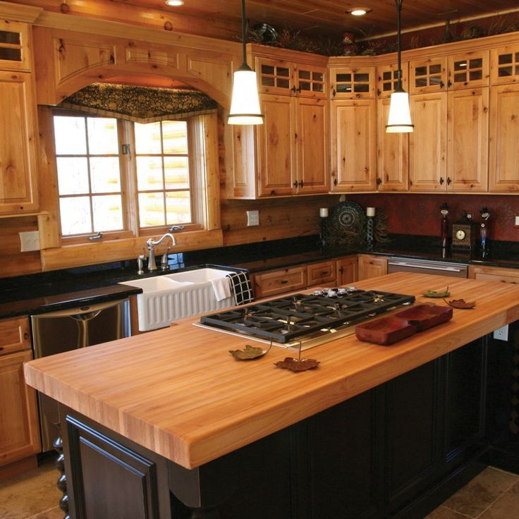 Modern Knotty Pine Living Room Google Search Kitchen Hickory Kitchen Cabinets Farmhouse Style Kitchen Cabinets Rustic Kitchen Cabinets