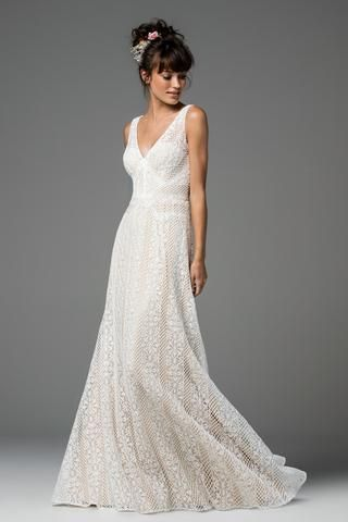 ae140cb77e5 Willowby by Watters 51706 Heartleaf Flutter Sleeve A-Line Wedding ...