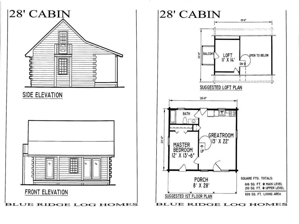 Log Cabin House Plans Beauty Home Design Inside 1024x768 Small Mountain  With Walkout Basement Cottages Style Wra… | Cabin floor plans, Floor plans, Loft  floor plans