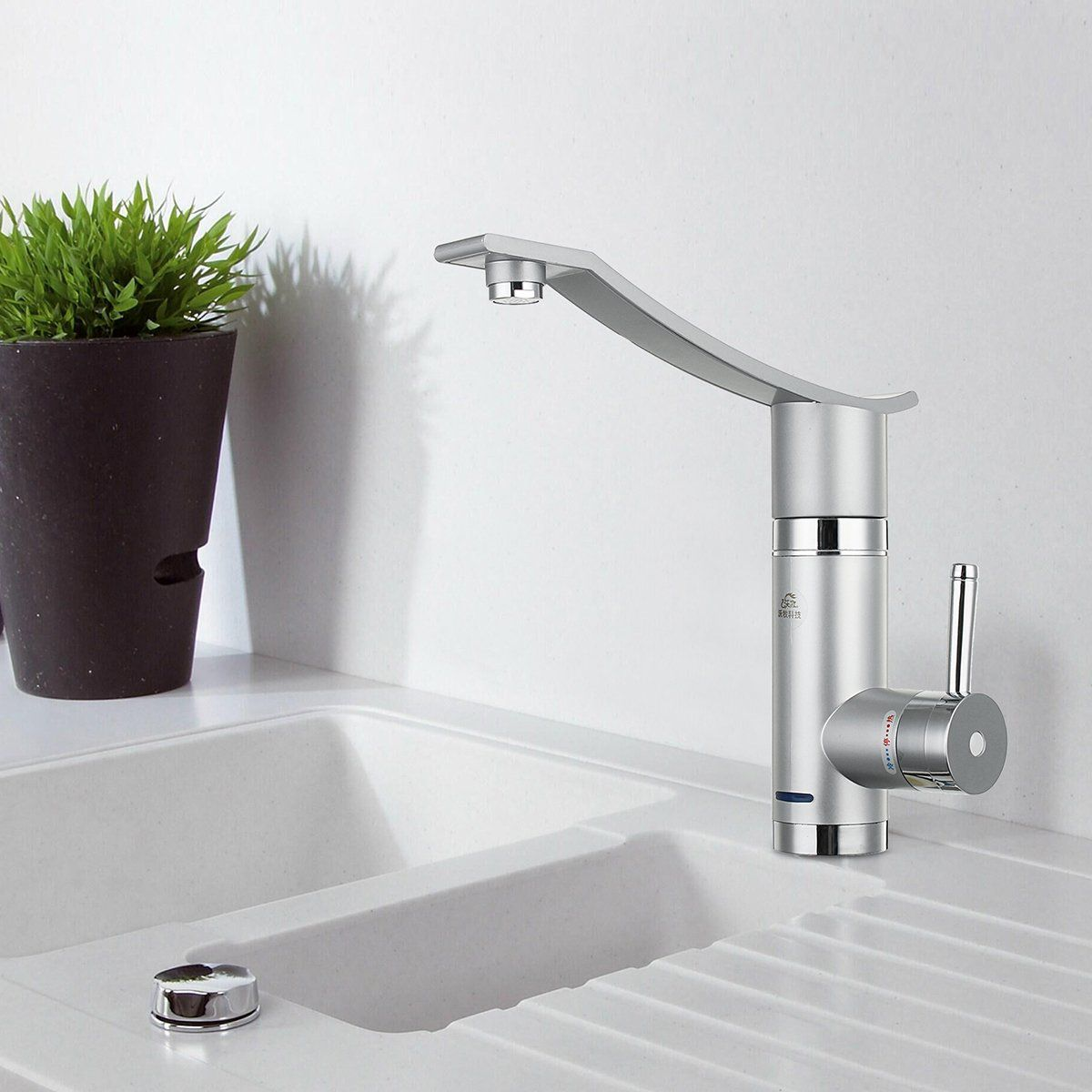 3000w Instant Electric Faucet Kitchen Hot Water Fast Heater Under