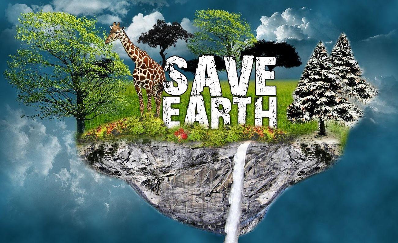 Save Earth Save Life Save Animals