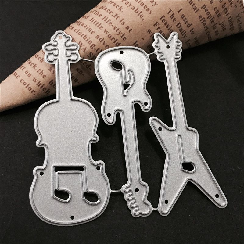 Guitar Metal Cutting Dies Stencils for Scrapbooking DIY Cards Making Decor ME