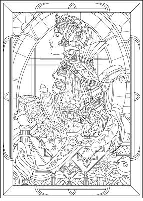 Detailed Coloring Pages for Adults | Princess Coloring ...