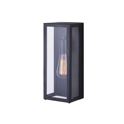 Canarm Galia 1 Light Black Outdoor Wall Lantern Sconce With Clear Glass Iol269bk Hd The Home Depot Black Outdoor Wall Lights Outdoor Wall Lighting Outdoor Wall Sconce