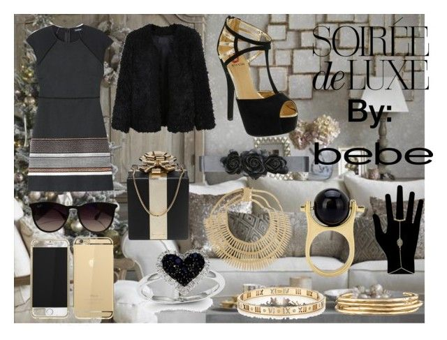 """""""Soirée de Luxe with bebe Holiday: Contest Entry"""" by babalucreaguilar ❤ liked on Polyvore featuring мода, Bebe, LE3NO, Red Circle, Kate Spade, Ray-Ban, Kevin Jewelers, Rosantica, Tiffany & Co. и Jennifer Fisher"""