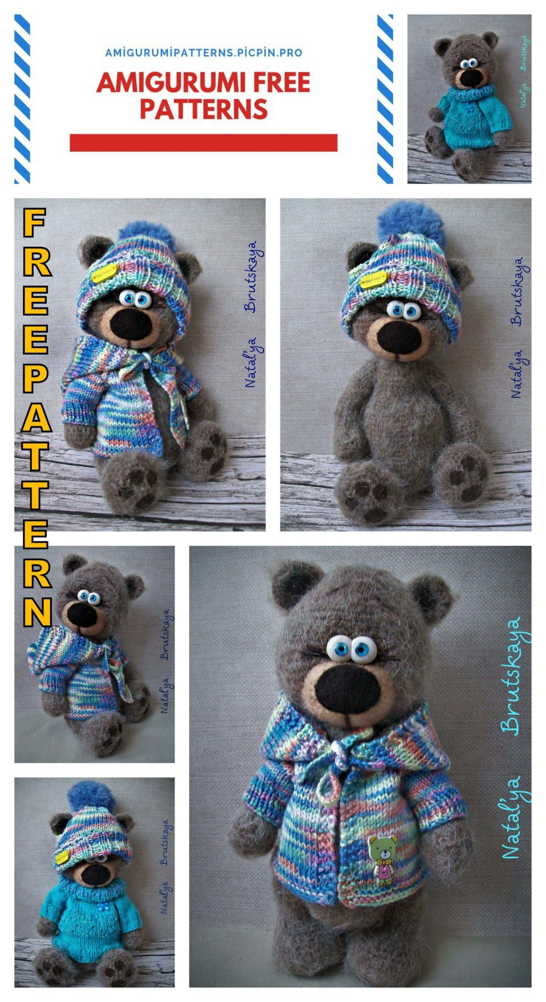 Get 70 Crochet Teddy Bear Patterns for free. See tons of photos ... | 2048x1117