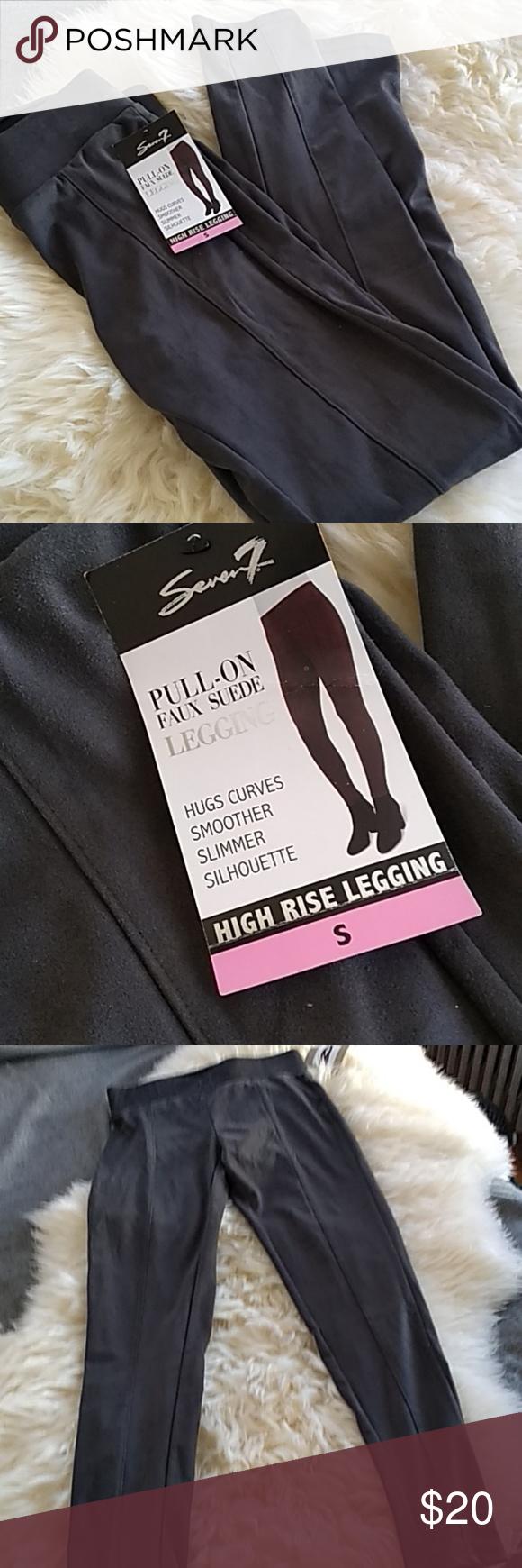 11bdd62614fd5 Seven7 Grey Faux Suede Leggings NWT Brand NWT Faux suede Slim leggings  Seven7 Pants Leggings
