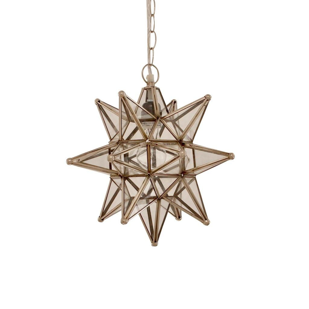 16 Bedroom Decorating Ideas With Exotic African Flavor: Moravian Star Moroccan Pendant