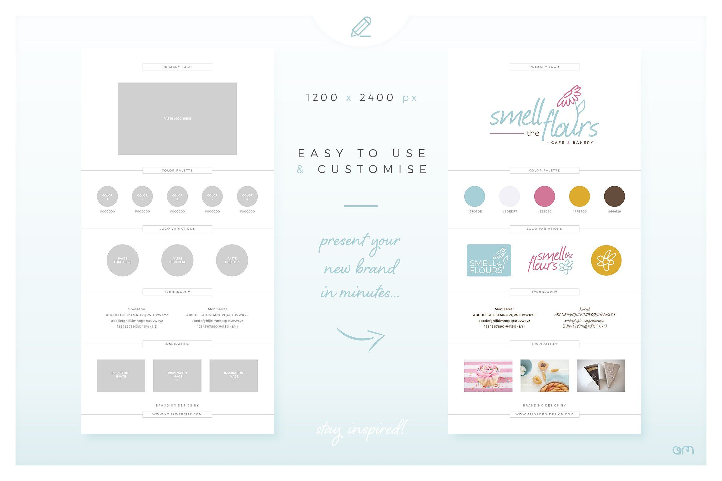 Brand Board / Style Tile 15 giveprojectpreviews
