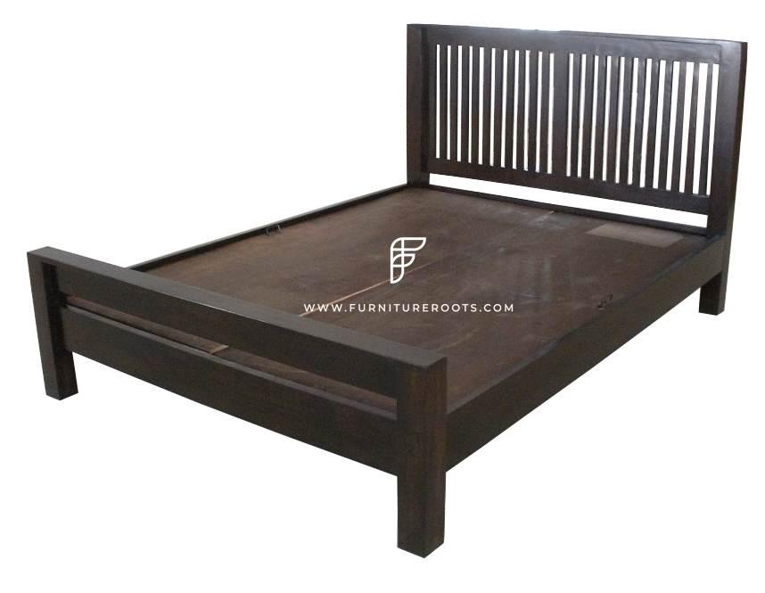 Walnut Shade Solid Wooden Hotel Bed Resort Furniture Hotel