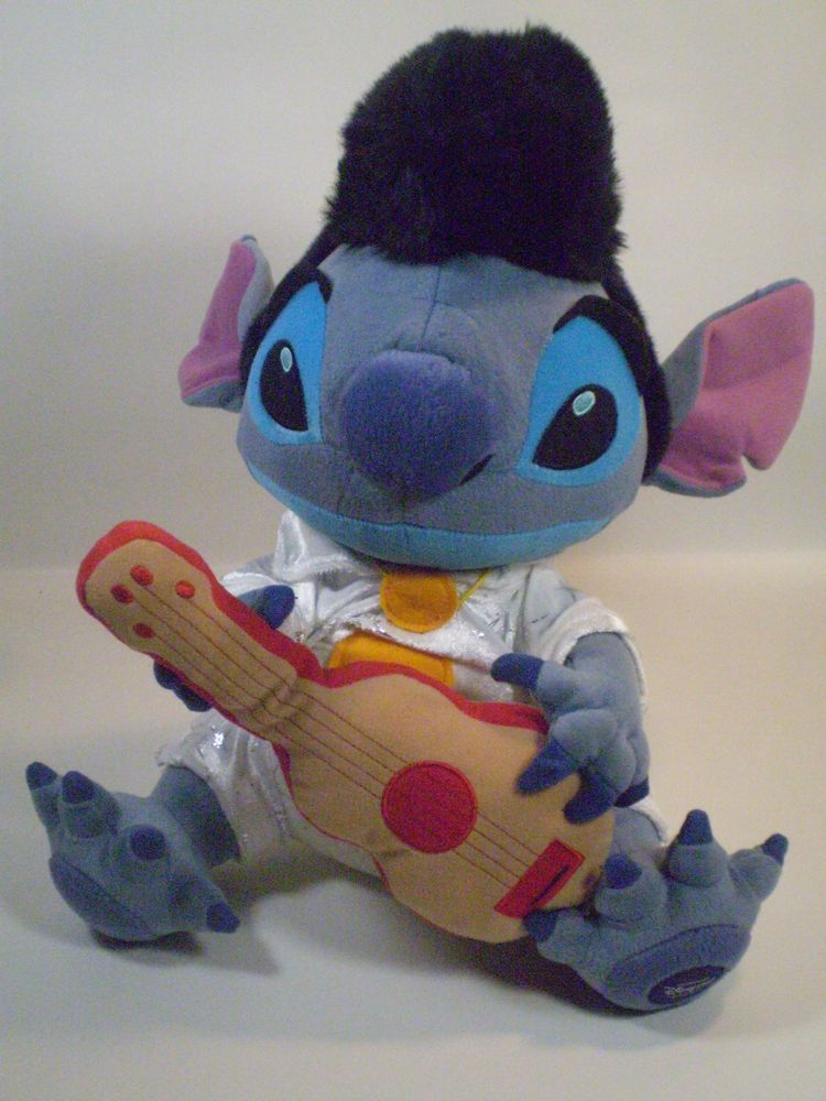 226cded883a Lilo   Stitch Disney Store STITCH as ELVIS Presley Stuffed Plush 14