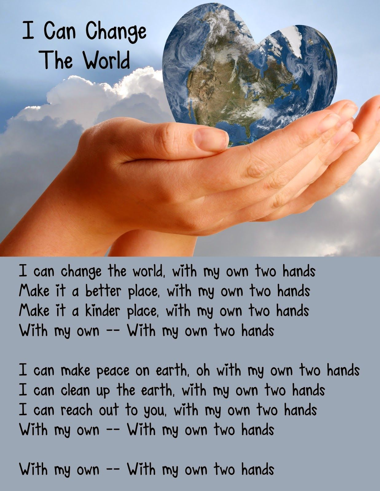 Image result for we can change the world and make it a
