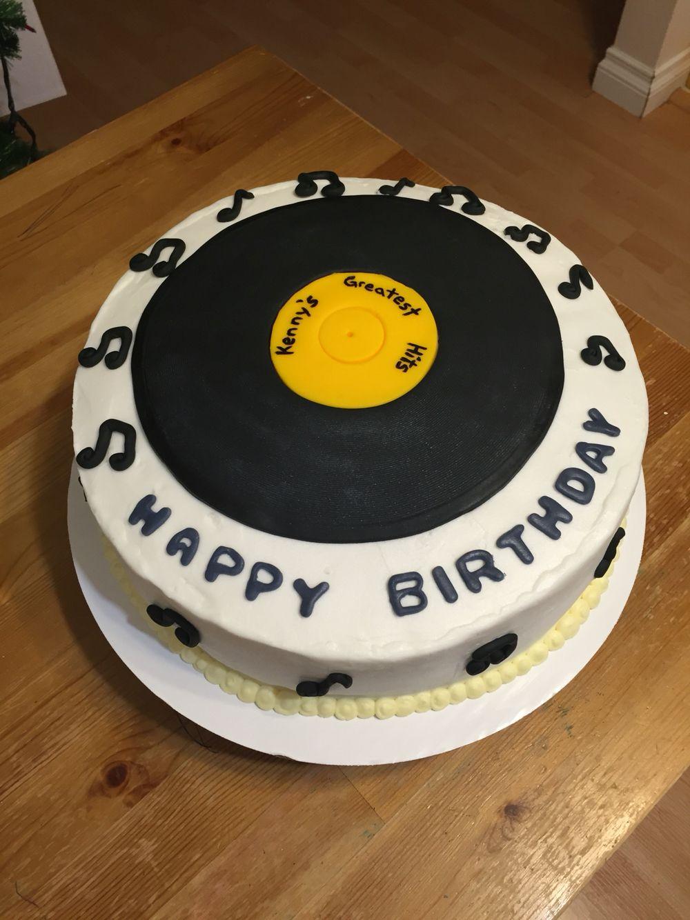Vinyl Record Cake Theme Cakes Cake Record Cake