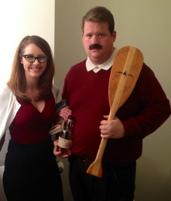 ron swanson and tammy 2 costumes for halloween ron swanson costume ron swanson leslie. Black Bedroom Furniture Sets. Home Design Ideas