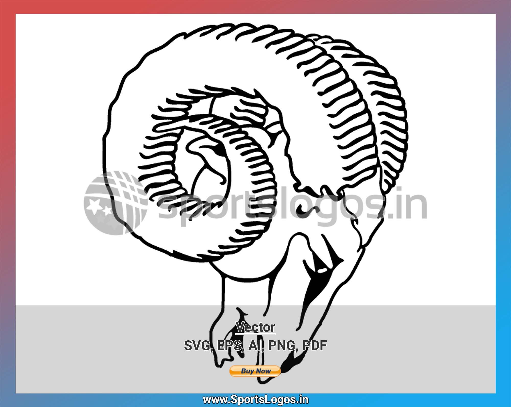 Los Angeles Rams Football Sports Vector SVG Logo in 5