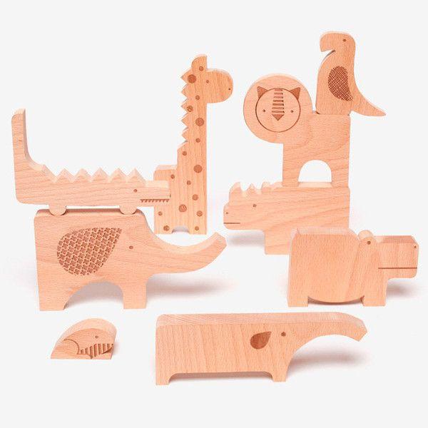 Safari Jumble Wooden Puzzle - Poketo