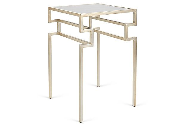 Everett Side Table, Silver by Worlds Away Wishlist Pinterest