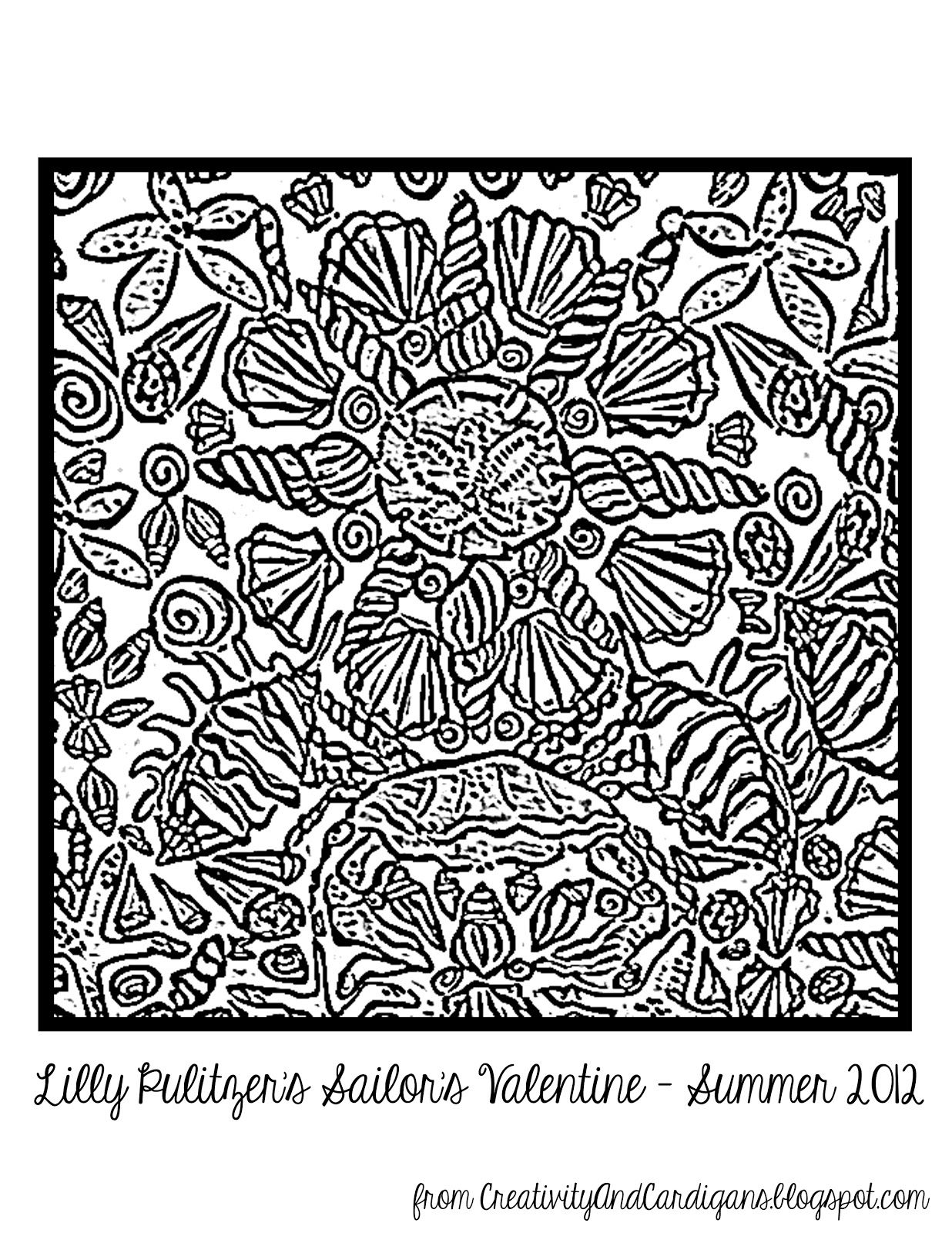 Lilly Pulitzer Sailor S Valentine Coloring Page Valentine Coloring Pages Coloring Pages Valentine Coloring