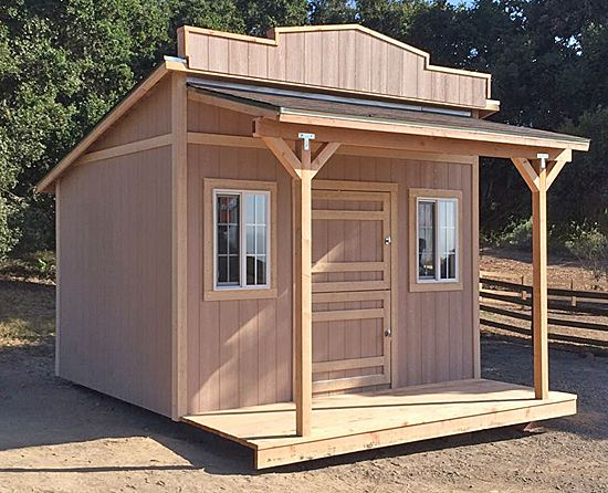 Western style storage sheds bing images down on the for Shed roof styles