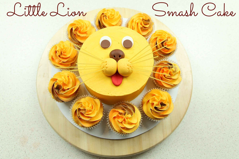 Little Lion Smash Cake tutorial