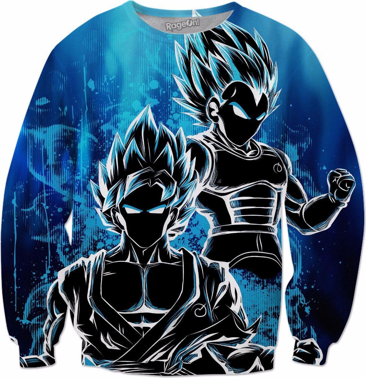 78759dad SSj God Blue - All Over Print Sweatshirt - TL00950AS | Cool ...