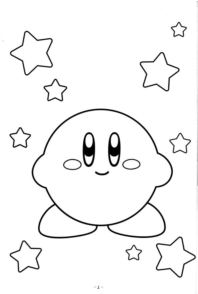 Cute kirby coloring pages video game coloring pages for Cute kirby coloring pages