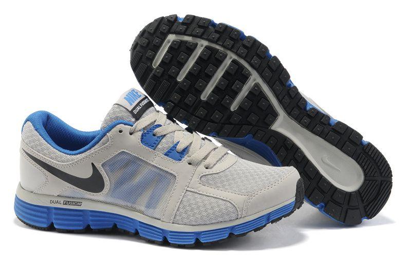 Wolf Grey/Treasure Blue/Black Nike Dual Fusion ST 2 Men Running Shoes halsf  off