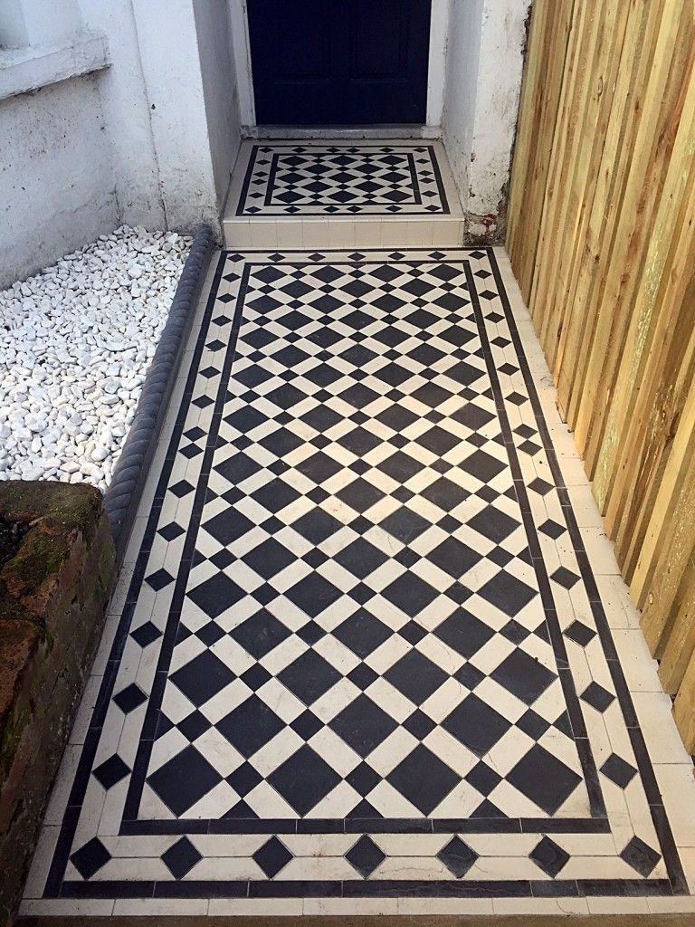Front Garden Victroian Mosaic Tile Path Black And White