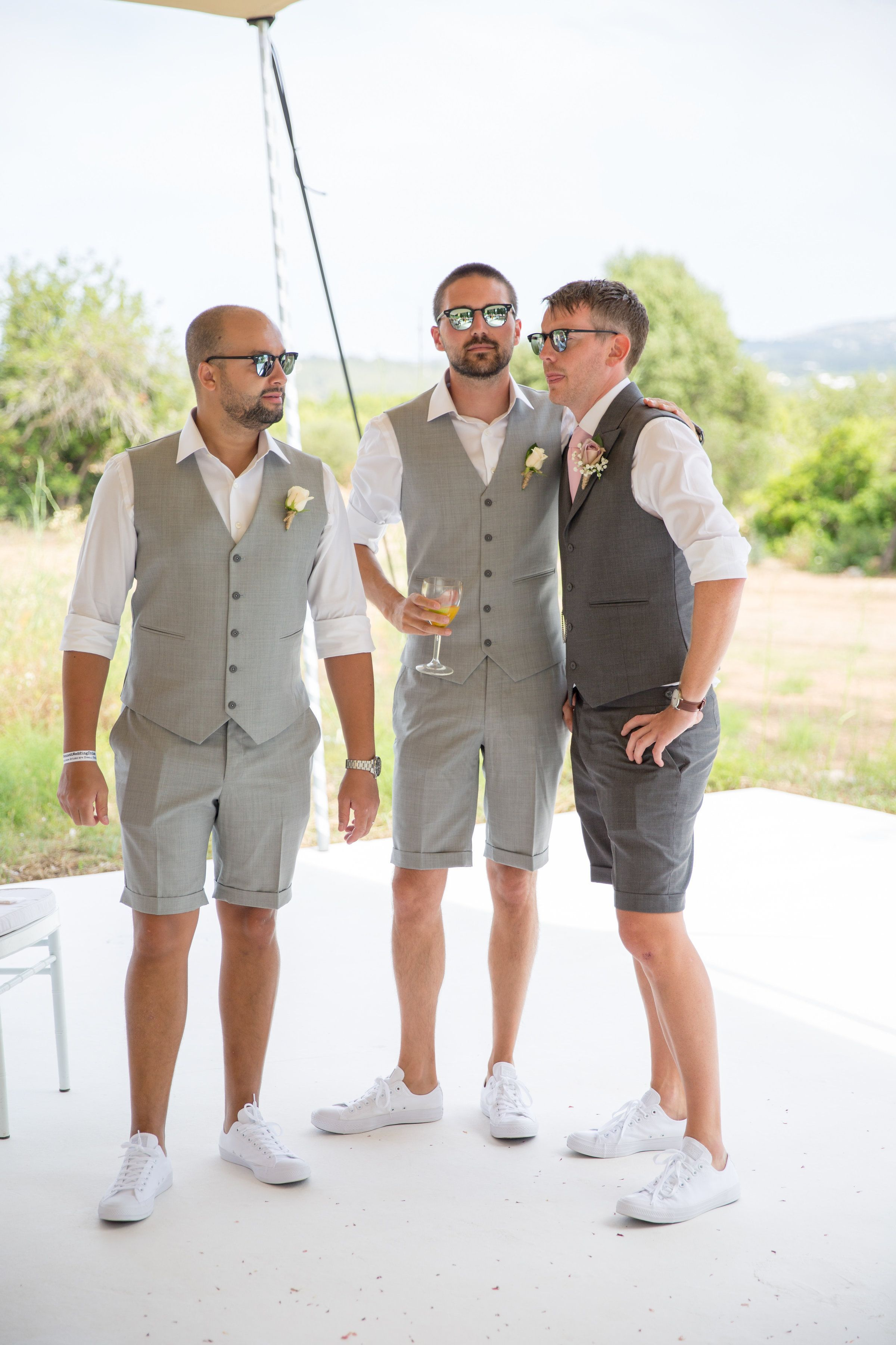 Secret Tips On Beach Wedding Etiquette For The Bride Beach Wedding Groom Attire Shorts B In 2020 Groomsmen Beach Attire Casual Groomsmen Mens Casual Wedding Attire