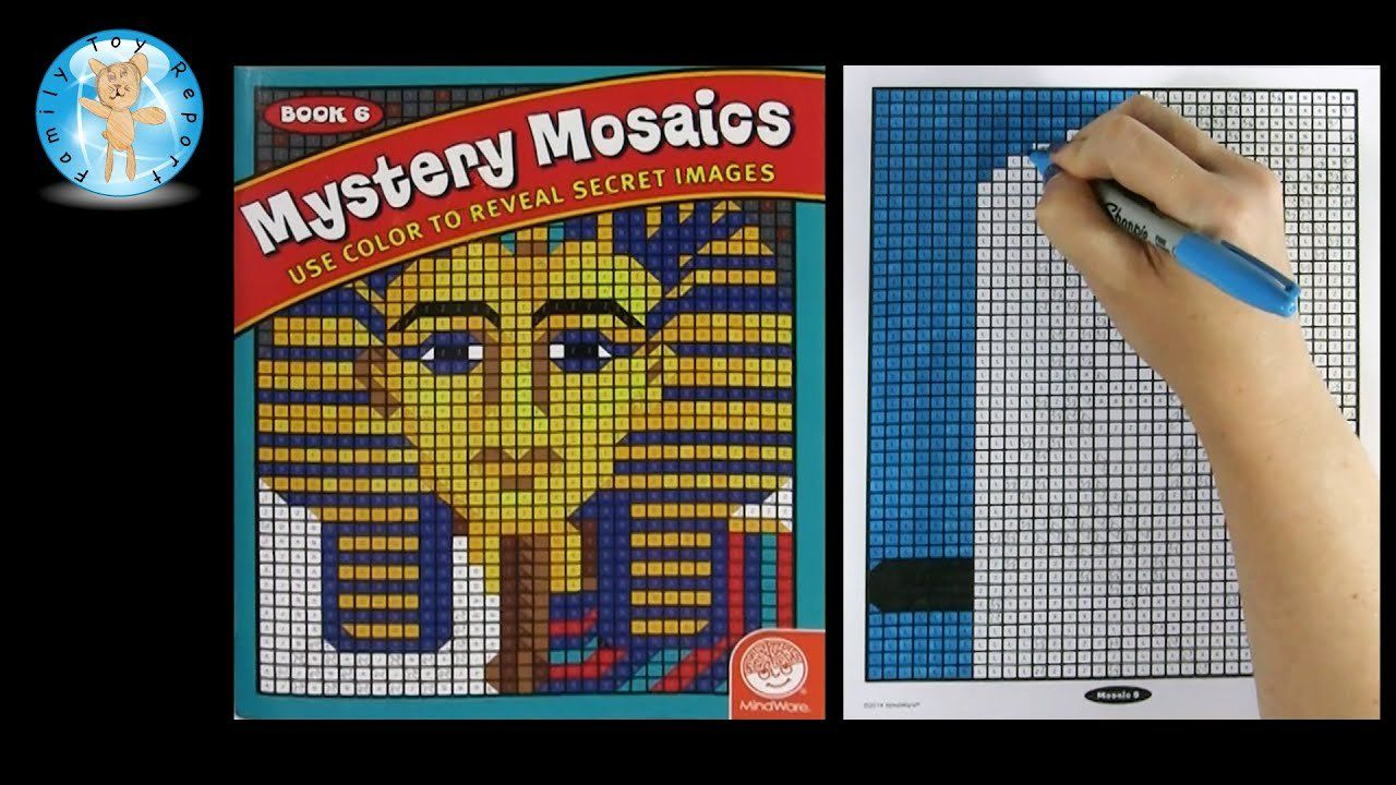 27 Mystery Mosaics Coloring Book in 2020 Mosaic books