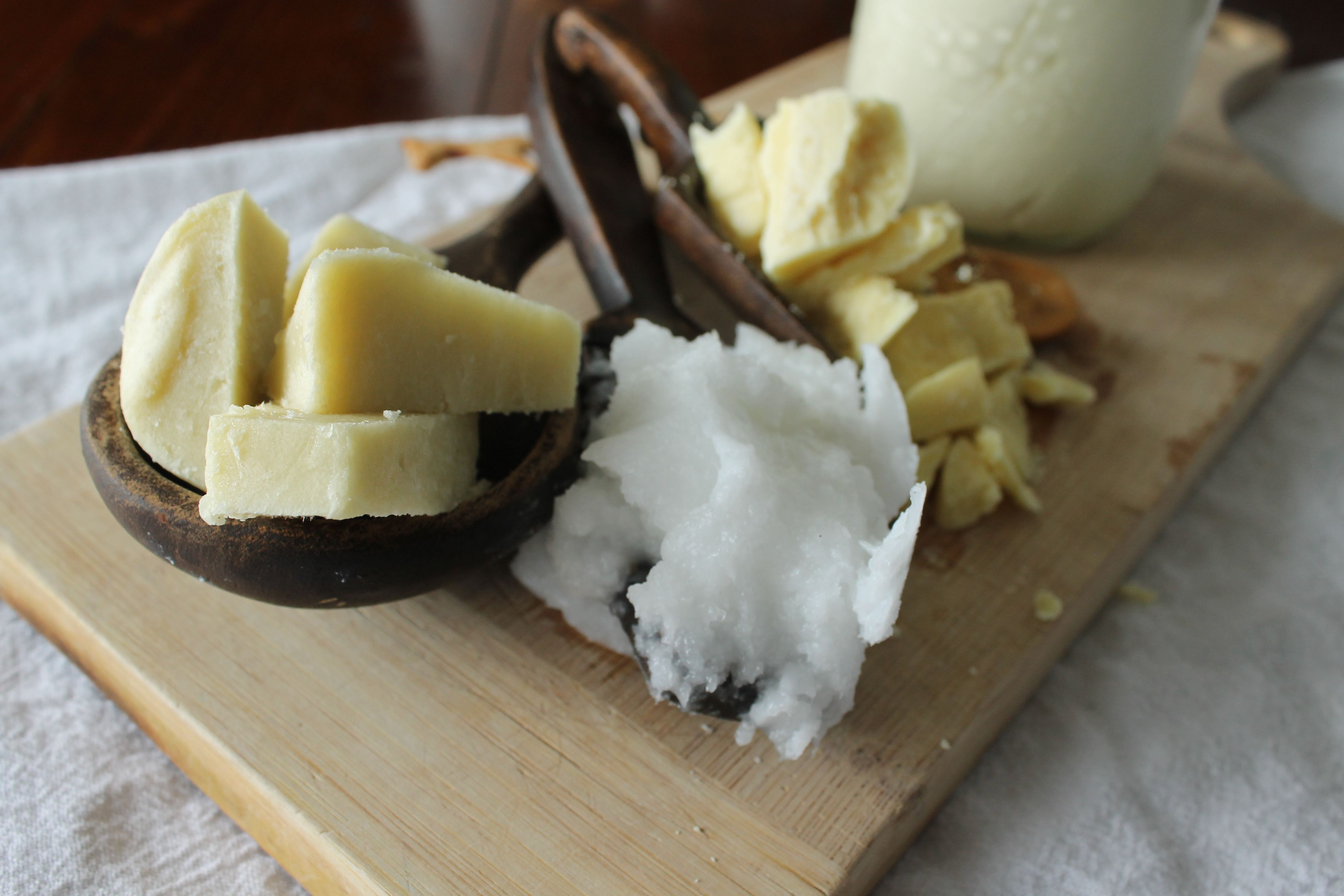 Diy homemade whipped shea and cocoa body butter they