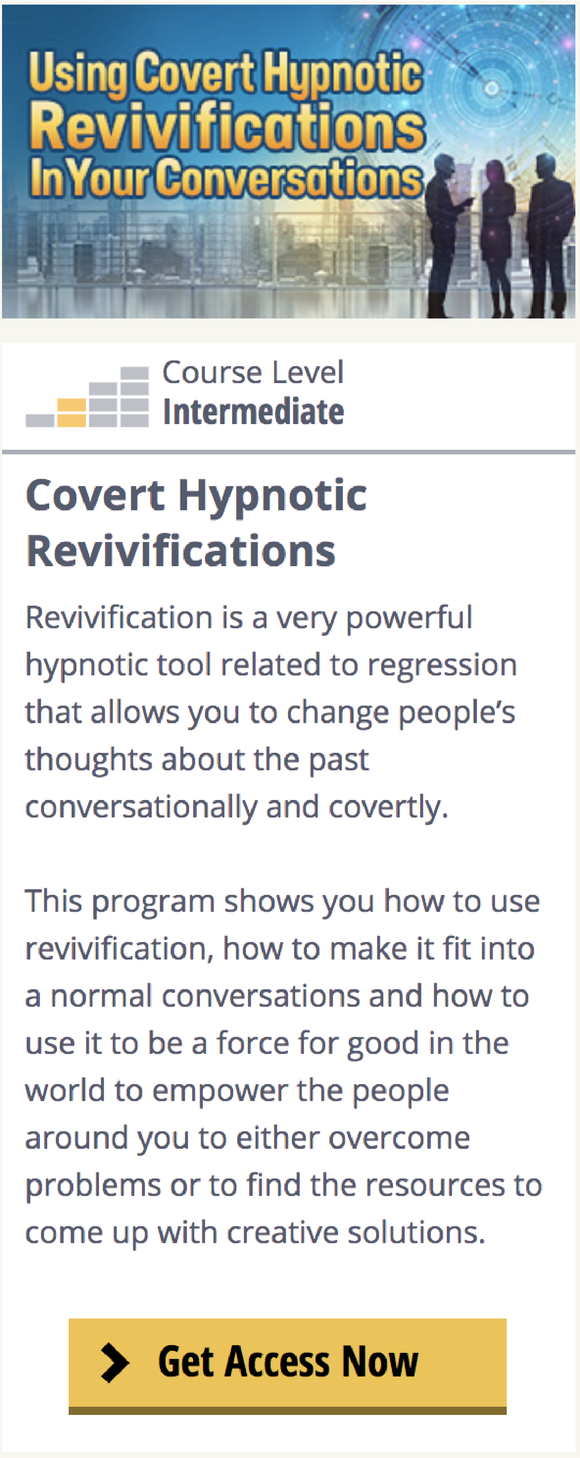 Covert Hypnotic Revivifications Covert Hypnosis Hypnosis Online Programs